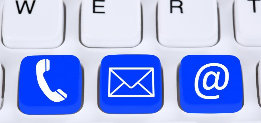 Ring - Skriv - Mail